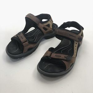 Ecco brown leather hiking sandals sz 40
